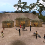Educational virtual world for training African aid workers.